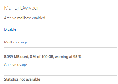 Enable Archive Mailbox